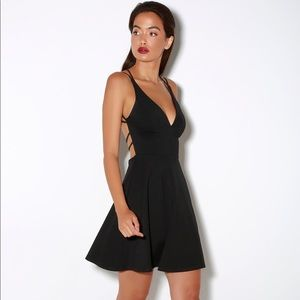 NWT Lulu's Black Believe in Love Dress